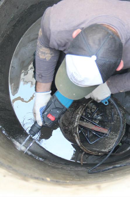 Как мы выполняем ремонт колодцев в Высоковске